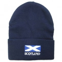 Scotland Saltire Ski Hat Navy