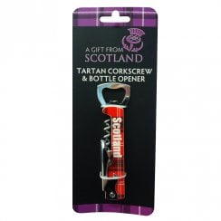 Scotland Tartan Corkscrew & Bottle Opener