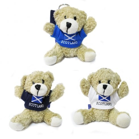 Scotland Teddy Keyring