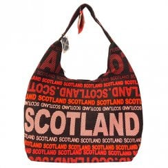 Scotland Words Black/Red Shoulder Bag