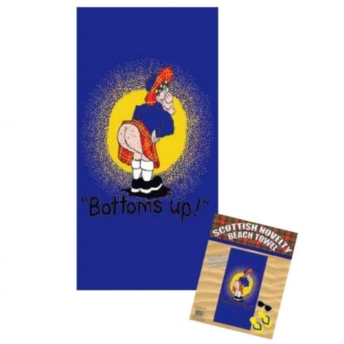 Thistle Products Ltd Scottish Beach Towel Bottoms Up