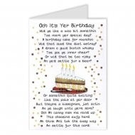 Scottish Cake Poem Birthday Card