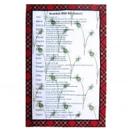 Scottish Dictionary Tea Towel