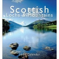 Scottish Loch & Mountains Mini Easel Calendar 2020