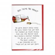 Scottish Medsin Get Well Soon Card