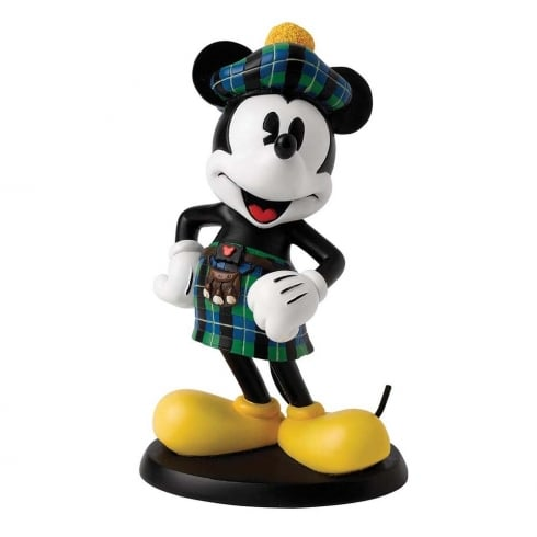 Disney Enchanting Collection Scottish Mickey Mouse Figurine
