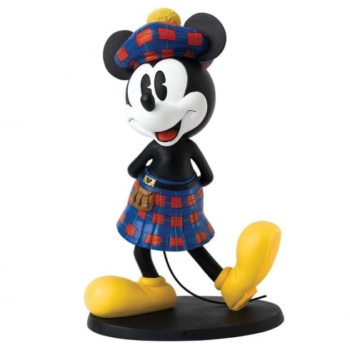 Disney Enchanting Collection Scottish Mickey Mouse Statement Large Figurine