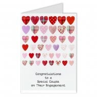 Scottish Rows of Hearts Engagement Card