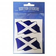 Scottish Sticker Double Saltire Flag