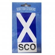 Scottish Sticker Saltire Flag With Scotland