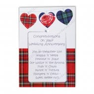 Scottish Tartan Design Go Thegither Poem Wedding Anniversary Card