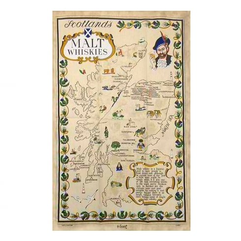 Samuel Lamont Scottish Tea Towel Malt Whisky