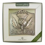 Scottish Thistle Bronze Plated Wall Plaque