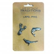 Scottish Wildlife Lapel Pin (set of 3 - stag, fish, pheasant)