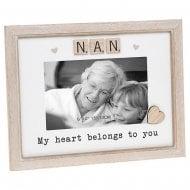 Scrabble Sentiment - Nan 6 x 4 Photo Frame