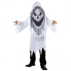 Screaming Ghost Mad Creeper Child Costume Large