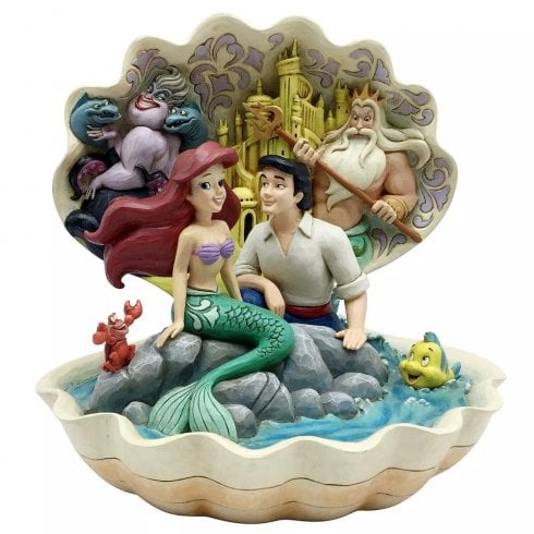 Disney Traditions Seashell Scenario The Little Mermaid Figurine