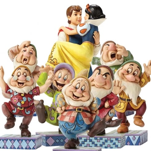 Disney Traditions Seven Dwarfs with Free Snow White Set