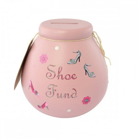 Pot of Dreams Shoe Fund Ceramic Money Pot