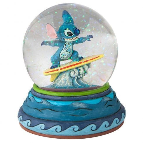 Disney Traditions Shootin the Curls Stitch Waterball