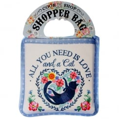 Shopper Bag....All You Need Is Love And A Cat