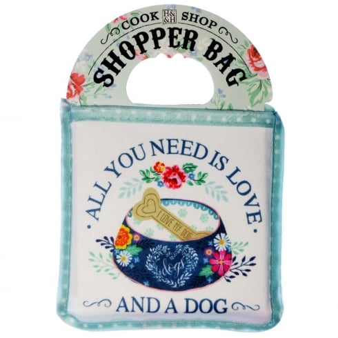 History & Heraldry Shopper Bag....All You Need Is Love And A Dog