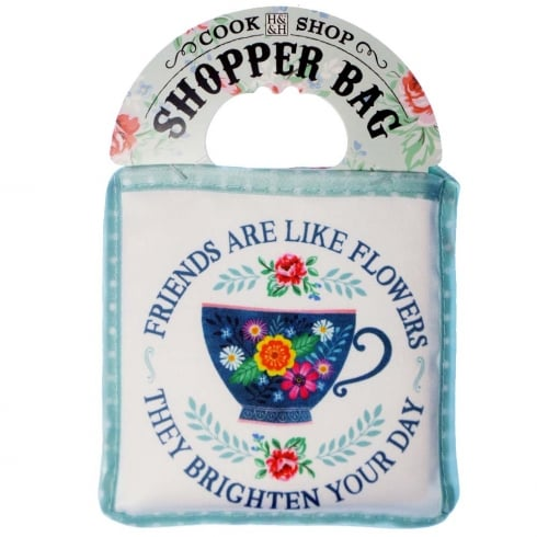 History & Heraldry Shopper Bag....Friends Are Like Flowers...