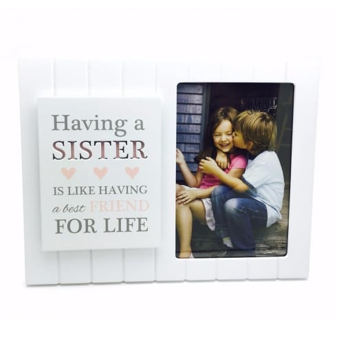 Shudehill Giftware Madison Style Sister 4 x 6 MDF Photo Frame