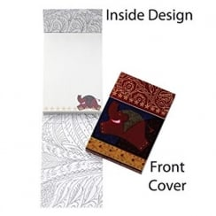 Silk Road Elephant Note Book Magnetic Closure