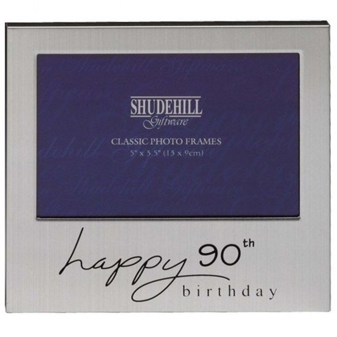 Silver 90th Birthday Occasion Photo Frame
