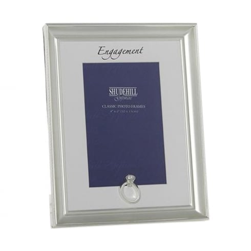Shudehill Giftware Silver Coloured Engagement 5 x 7 Photo Frame