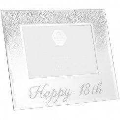 Silver Glitter Frame 18th Birthday