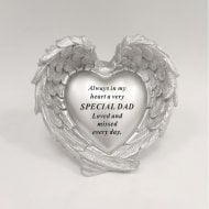 Silver Heart In Wings Special Dad Remembrance Ornament