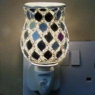 Silver Morrocan Tulip Mosaic Wax Warmer