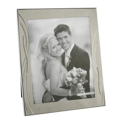 Impressions By Juliana Silver Plated Crystal Reed Style 8 X 10 Photo Frame