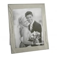 Silver Plated Crystal Reed Style 8 X 10 Photo Frame