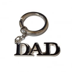 Silver Plated Dad Keyring