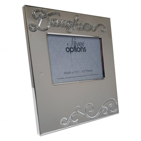 Silver Options Silver Plated Daughter 3.5 x 2.5 Photo Frame