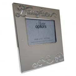 Silver Plated Daughter 3.5 x 2.5 Photo Frame