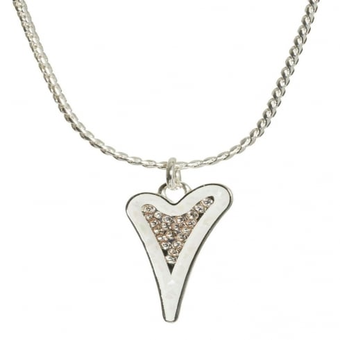 Miss Dee Silver Plated Fashion Necklace with enamel & diamante