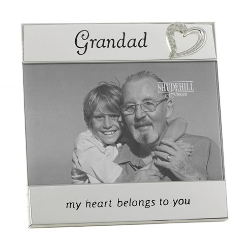Shudehill Giftware Silver Plated Grandad 6 x 4 Photo Frame