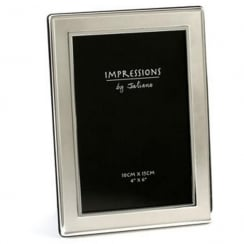 Silver Plated Satin Plain 4 x 6 Photo Frame