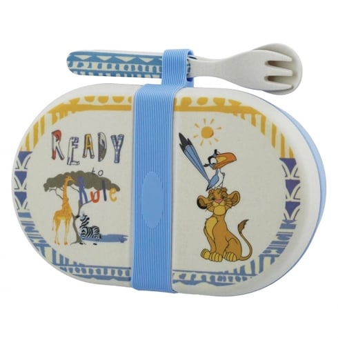 Disney Enchanting Collection Simba Organic Snack Box with Cutlery Set
