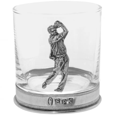 English Pewter Single Tumbler Golf