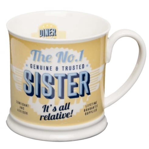 Diner Style Mugs Sister