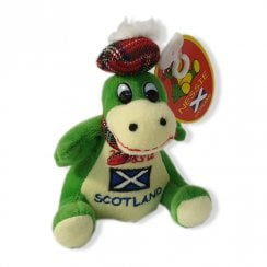Sitting Nessie With Saltire 11cm Loch Ness Monster Soft Toy