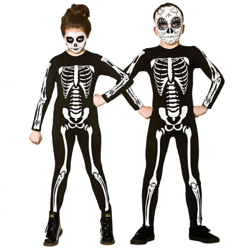 Wicked Costumes Skeleton Jumpsuit (3-4) Small