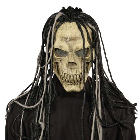 Fun World Skull Mask with Dreads