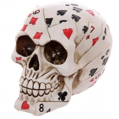 Skull Of Cards Figurine