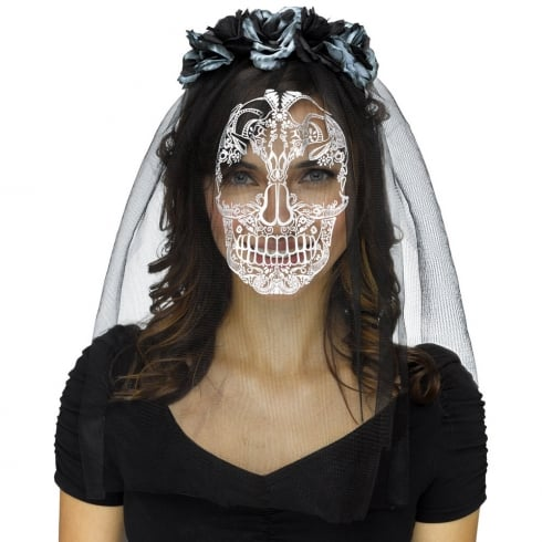 Fun World Skull Veil
